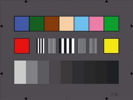 EBU通用测试卡|测试摄像机的彩色和中性灰度及相